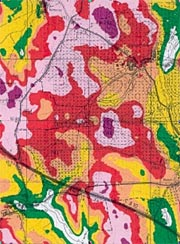 Cartographic representation of wind resource (Detail)